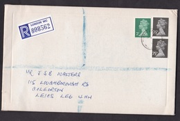 UK: Registered Cover To Germany, 3 Stamps, Machin, R-label, Rate 1,52 (tape At Back) - 1952-.... (Elizabeth II)