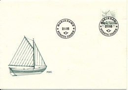 Aland FDC 2-1-1986 Ordinary Stamp Boat With Cachet - Aland