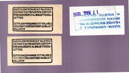 Biglietti Treno CUNEO 1996 (comitiva) E Contromarche - Titres De Transport