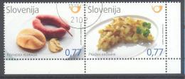 Slovenia Slowenien 2012 Used CTO: Food Gastronomy Slovenian Dishes, Food Sousage, Potatoes; Wurst, Kartofel - Food