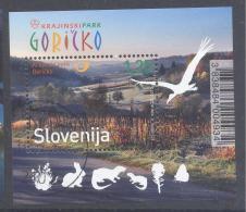 Slovenia Slowenien 2012 Used CTO S/S : Tourism Holidays Goricko Region Birds Rodents Butterfly Rabbit Nature Protection - Umweltschutz Und Klima