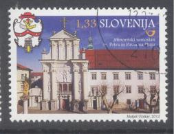 Slovenia Slowenien 2012 Used CTO: Tourism Architecture Church; Ptuj Minorits St. Peter & Paul Monastery; Coat Of Arm - Klöster