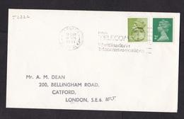 UK: Cover, 1981, 2 Stamps, Machin, Rate 14 P, Cancel British Telecom, Telecommunications, Logo (traces Of Use) - 1952-.... (Elizabeth II)