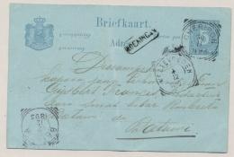 Nederlands Indië - 1893  - 5 Cent Briefkaart Van Langstempel KOENINGAN Via Cheribon Naar Batavia - Indes Néerlandaises