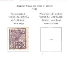 Brasile PO 1940 Bandiera Brazil Liberty  Scott.502+ See Scan On Scott.Page - Brasile