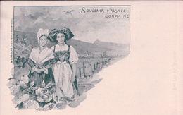 France Alsace Lorraine, Femme En Costumes, Dessin De B. Hartmann (255) - Alsace