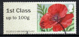 GB 2015 QE2 1st Class To 100 Gms Post & Go Common Poppy ( 592 ) - Great Britain