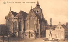 POPERINGHE - Sint Bertinus Kerk En Oorlogsgedenkteeken - Poperinge