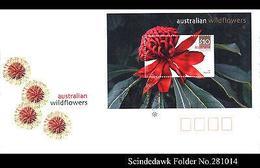 AUSTRALIA - 2006 AUSTRALIAN WILDFLOWERS - MIN. SHEET - FDC - FDC