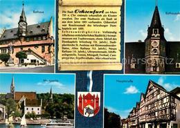 73177309 Ochsenfurt Rathaus Uhr Mainpartie Kirche Hauptstrasse Fachwerkhaeuser C - Ochsenfurt