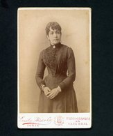Fotografia Antiga: PHOTOGRAPHIA Da CAZA REAL Emilie Biel PORTO. Original Old CDV Portugal 1880s - Anciennes (Av. 1900)