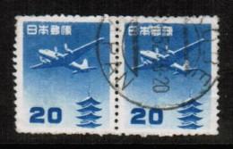 JAPAN  Scott # C 26 F-VF USED PAIR - Airmail