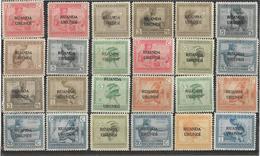 7Rr-794: Restje Van + 25 Zegels  Type Vloors Met Opdruk.... Om Verder Uit Te Zoeken... - Ruanda-Urundi