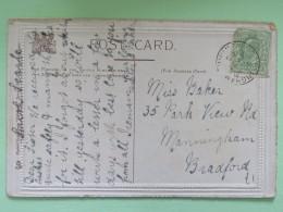 "England 1905 Postcard """"Venice Grand Canal Boats"""" Birmoingham To Bradford - Storia Postale"