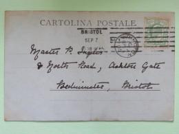 """England 1905 Postcard """"""""S. Margherita - Boats"""""""" Wrincton To Bristol - Storia Postale"""