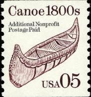 1991 USA Transportation Coil Stamp Canoe Sc#2453 History Ship Post - Post