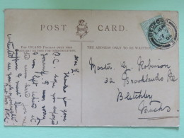 """England 1906 Postcard """"""""sailing Boat - Italy"""""""" Bedford To Blatchley England - 1902-1951 (Re)"""