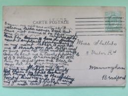 "England 1906 Postcard """"San Remo Isole Britanniche"""" Leeds To Bradford England - Storia Postale"