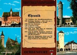 73210368 Ochsenfurt Rathaus Palatium Schloss Oberer Torturm Bollwerk Chronik Och - Ochsenfurt