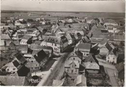 PA2-68) SAINTE CROIX EN PLAINE (HAUT RHIN)  VUE AERIENNE - CÔTÉ SUD - (OBLITERATION DE 1954 - 2 SCANS) - Autres Communes