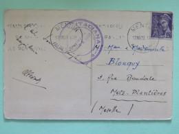 """France 1939 Postcard """"""""Grimaldi - Ventimiglia - Frontera Italiana"""""""" Menton To Metz France - Mercure - Francia"""