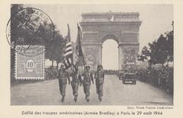 Carte  Maximum    FRANCE   ARC  DE  TRIOMPHE    Libération  De  PARIS  1944 - Cartes-Maximum
