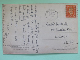 "England 1946 Postcard """"Italy - Grottamare - S. Nicola"""" Penarth To England - King - 1902-1951 (Könige)"