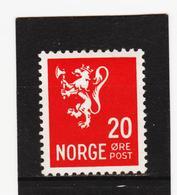 AUA1001  NORWEGEN 1937  MICHL 184 ** Postfrisch  ZÄHNUNG Siehe ABBILDUNG - Norwegen