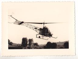 PHOTO FORMAT 12 X 9  UN HELICOPTERE - Foto