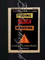 71-163 CZECHOSLOVAKIA 1959 Slovenske Skrobarne Trnava Pudding, Cream, Maize - Boites D'allumettes - Etiquettes