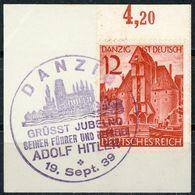"""""""DANZIG"""" Sonderstempel 1939 Briefstück Nr. 715 - Oblitérés"""