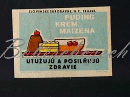 71-166 CZECHOSLOVAKIA 1959 Slovenske Skrobarne Trnava Pudding, Cream, Maize - Boites D'allumettes - Etiquettes
