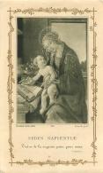 IMAGE RELIGIEUSE CANIVET  SEDES SAPIENTLE - Images Religieuses