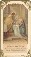IMAGE RELIGIEUSE CANIVET  A JESUS PAR MARIE - Devotion Images