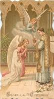IMAGE RELIGIEUSE CANIVET   SOUVENIR DE 1re COMMUNION EGLISE DE TAVERNY - Images Religieuses