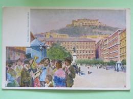 Italy Around 1920 Unused Postcard - Milan Milano - Piazza Municipio - Music Band - Italy