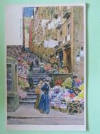 Italy Around 1920 Unused Postcard - Milan Milano - Stairs Vith Flowers - Italy