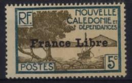 N° 199 - X X - ( C 211 ) - France Libre ( Petite Tache Noire Au Verso Du à L'impression Du Timbre ) - Nueva Caledonia