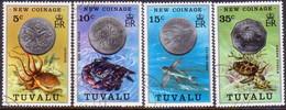 TUVALU 1976 SG #26-29 Compl.set Used New Coinage - Tuvalu