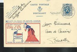 Publibel Obl. N° 50 ( CÔTE D'OR  Chocolat - Bébé éléphant) Obl. La Louvière F  En 1934 - Publibels