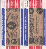 CONFEDERATE CURRENCY - REPRODUCTIONS - SET A & B (12 Billets) - Confederate Currency (1861-1864)