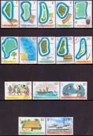 TUVALU 1976 SG #30-44 Compl.set Used Maps All Wmkd - Tuvalu