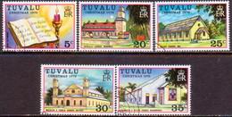 TUVALU 1976 SG #45-49 Compl.set Used Christmas - Tuvalu
