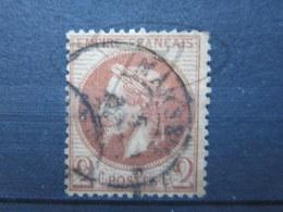"""VEND BEAU TIMBRE DE FRANCE N° 26 , ROUGE BRUN CLAIR , CACHET """" MARSEILLE """" !!! - 1863-1870 Napoléon III Lauré"""