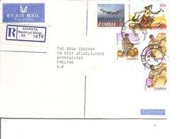 Zambie ( Lettre Recommandée Par Avion De 1982 De Chipata Vers La Grande-Bretagne à Voir) - Zambia (1965-...)