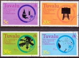 TUVALU 1977 SG #54-57 Compl.set Used South Pacific Commission - Tuvalu