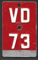 Velonummer Waadt VD 73 - Number Plates
