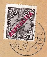 Lettre Faro Portugal Manuel II De Portugal Republica - Brieven En Documenten