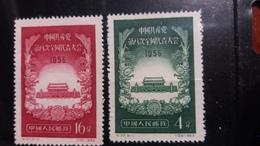 China 1956 Mi 326-327 (*) - 1949 - ... Repubblica Popolare