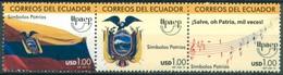 Equateur - 2010 - Yt 2259/2261 - U.P.A.E.P. - **  Se Tenant - Ecuador